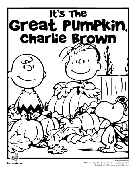 charlie brown thanksgiving coloring pages free gallery for gt peanuts great pumpkin coloring pages