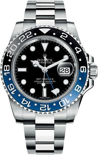 Rolex Oyster Ds 035 Black Steel rolex gmt master ii steel with black and blue ceramic