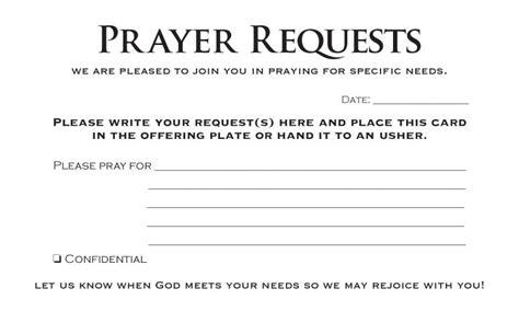 prayer request template prayer request card pack of 50