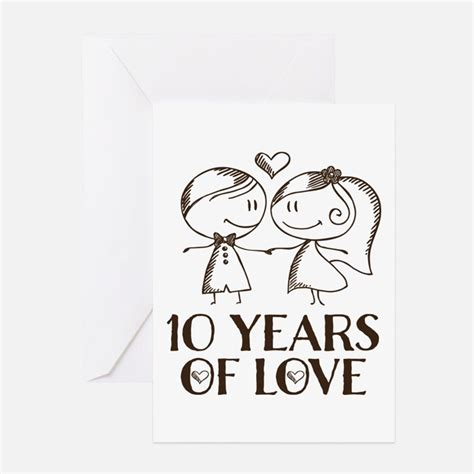 10 year anniversary card template 10th anniversary 10th anniversary greeting cards card