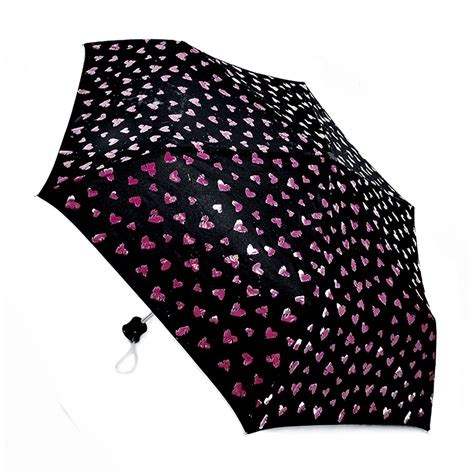 pattern changing umbrella womens ladies color changing heart butterfly pattern