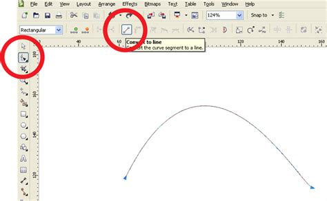 how to curve text in coreldraw x5 how to covert curve to straight line coreldraw graphics