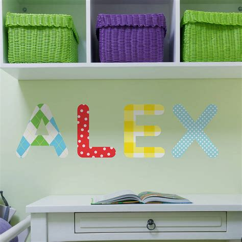 childrens personalised wall stickers personalised childrens name wall stickers by the binary