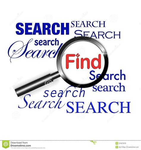 To Search For Search Find Magnify Glass Stock Illustration Image Of