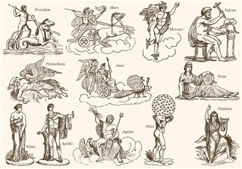 imagenes de personas mitologicas greek mythology charactersq download free vector art
