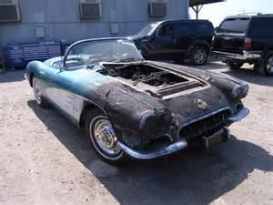 damaged 1958 chevrolet corvette for sale in ca los