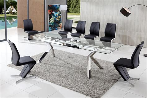 modern glass dining table glass dining table 8 chairs table ideas