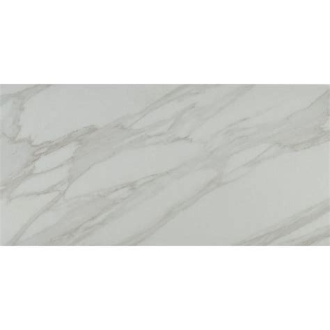 ms international carrara 12 in x 24 in glazed polished porcelain floor and wall tile 16 sq
