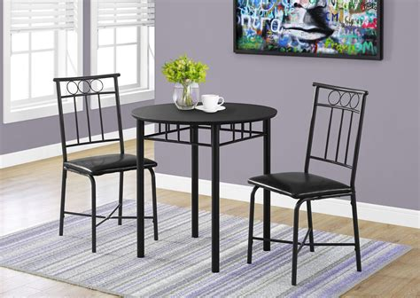 metal dining room sets black metal 3 dining room set 1013 monarch