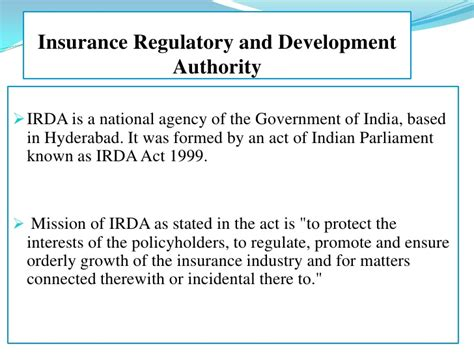 Irda Notes For Mba by Claim Ppt
