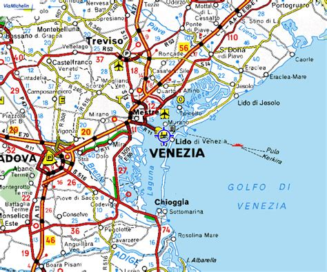 venice italy map maps of venice