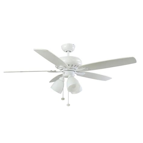hton bay rockport ceiling fan hton bay rockport 52 in led matte white ceiling fan