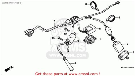 1988 honda fourtrax 300 wiring harness 1988 honda
