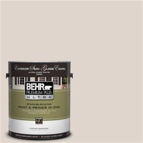 behr premium plus ultra 1 gal n230 1 castle beige semi gloss enamel exterior paint 585001