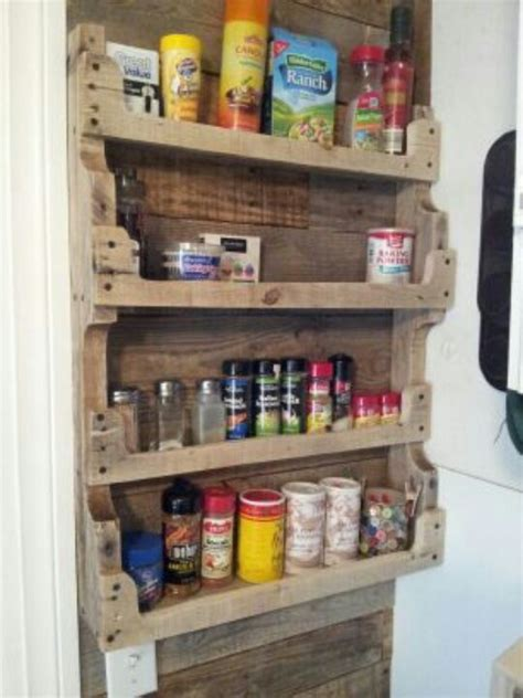 Pallet Spice Rack pallet spice rack for the home