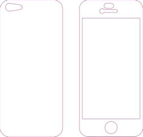 iphone cut out template iphone 5 or 5s skin template for cutting or machining