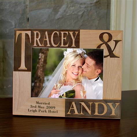 bride  groom personalised photo frame picture frame