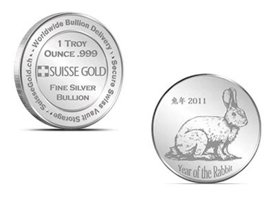 1 oz silver bar p suisse year of the monkey suisse gold 1 ounce silver 2011 year of the rabbit