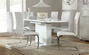 White Dining Room Tables And Chairs Osaka White High Gloss Extending Dining Table And 4 Chairs