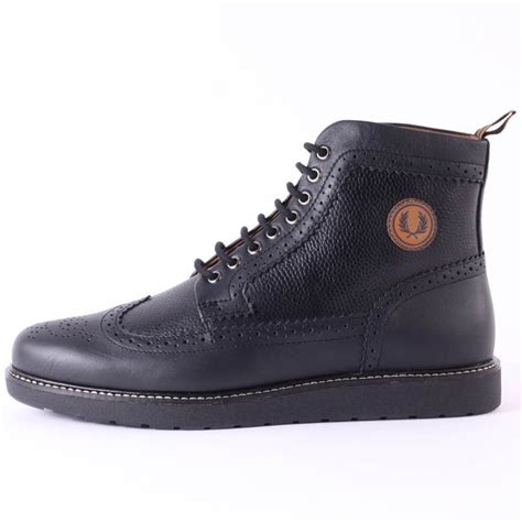 fred perry northgate mens boots in black