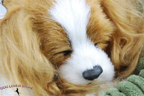 breathing puppy cavalier king charles petzzz like stuffed animal breathing