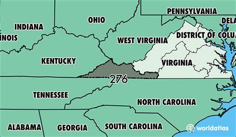 us area code virginia where is area code 276 map of area code 276