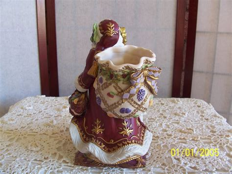 fitz and floyd renaissance santa figurine nib santa