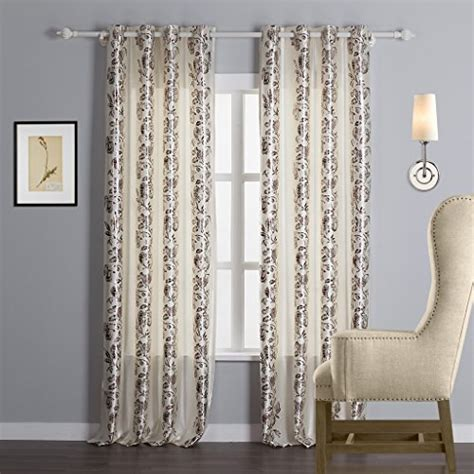 Gold Grommet Curtains Iyuegou Classic Gold Print Floral Energy Saving Grommet Top Lining Blackout Curtains Draperies