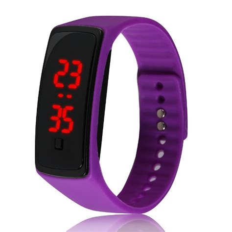 Led Sport Watches Aa W027 White fashion rubber band led digital wrist