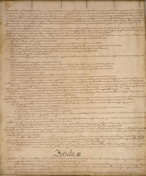 Sections Of Constitution by The History Place American Revolution Constitution Of The United States