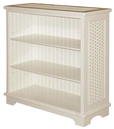 Cottage Rattan Desk And Chair Set From Schober Company White Wicker Bookcase