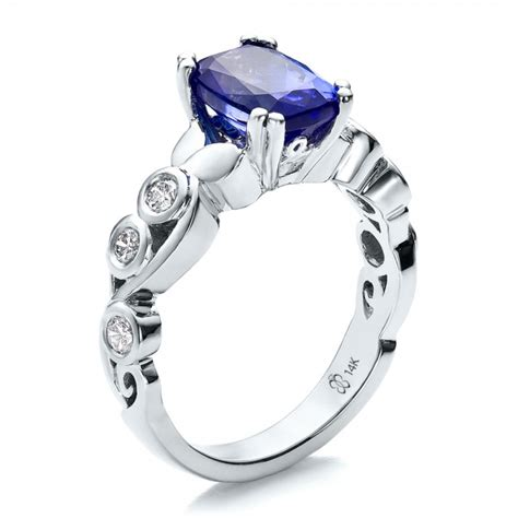 Tanzanite Engagement Rings by Custom Tanzanite And Engagement Ring 100112
