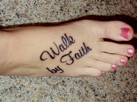 walk by faith tattoo beautiful walk by faith