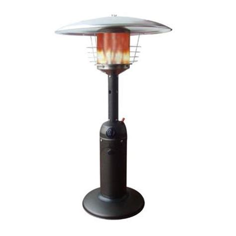 Paramount Table Top Patio Heater Mocha Home Depot Patio Heaters At Home Depot