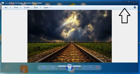 hide top bar how to change color hide windows photo viewer top bar windows 7 help forums