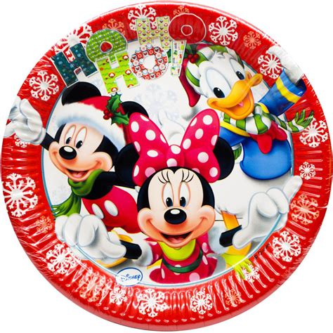 Paper Plates 7 Mickey Isi 8 8 disney mickey minnie mouse large 23cm paper plates ebay
