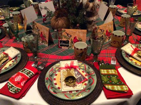 black and red christmas tablescapes tablescapes