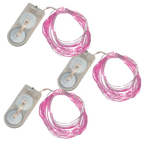 Lumabase 20 Pink Waterproof Mini Led String Light Set Of Mini Led Light Strings