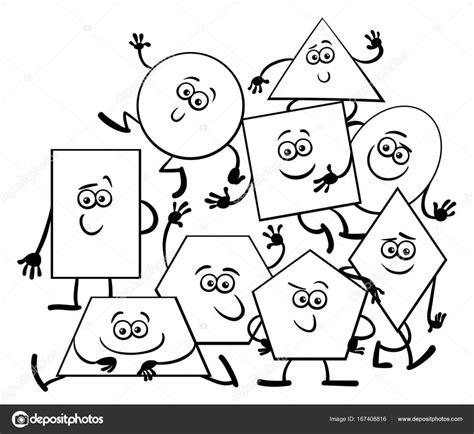 dibujos para colorear con figuras geométricas libro de colorear de formas geom 233 tricas dibujos animados