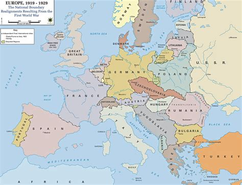 map of europe europe map of europe in 1919