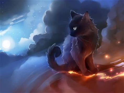 anime kitten hd wallpaper 18636 baltana anime cat black desert fire smoke anime zation
