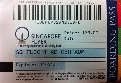 Singapore Flyer E Ticket singapore flyer cost information for travelers credso singapore