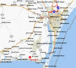 southport and oak island carolina map and directions