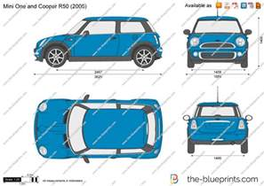 Mini Cooper Length The Blueprints Vector Drawing Mini One And Cooper R50