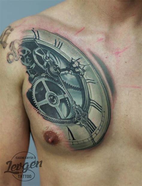tattoo 3d zegar redberry tattoo studio wrocław tattoo inked ink studio