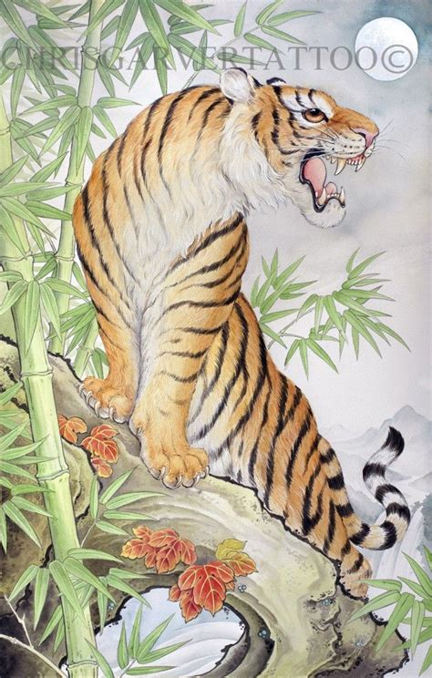 lost tiger tattoo chris garver paintings original jpg tiger