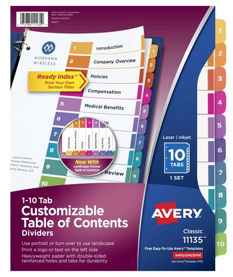Avery 25 Tab Table Of Contents Template Brokeasshome Com Avery 11370 Template
