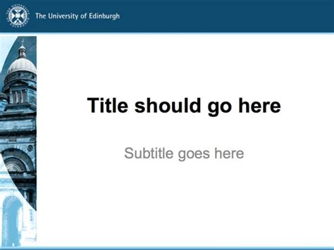 Powerpoint Templates The University Of Edinburgh Academic Presentation Powerpoint Template