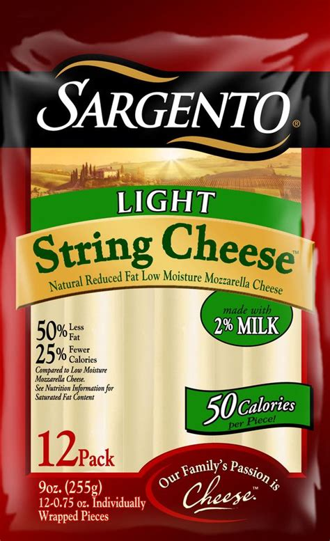 Pair 50 Calorie String Cheese With A Few Whole Grain Sargento Light String Cheese