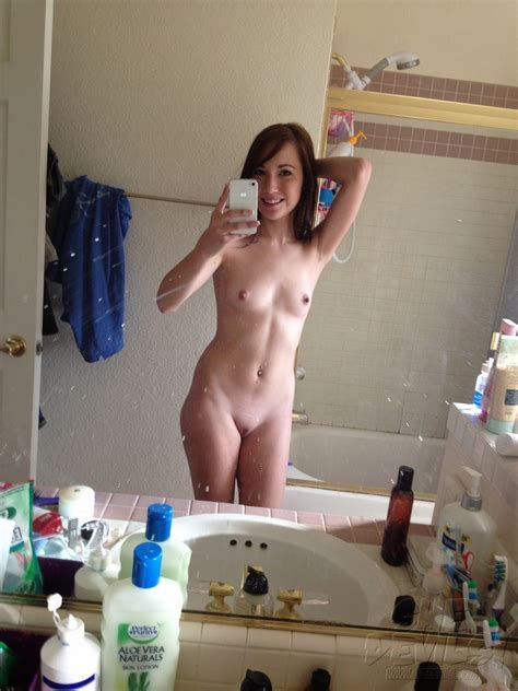 Cute And Young Self Shot Teen Shows Off Shaved Snatch At